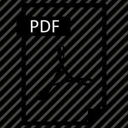 document, extension, file, format, line, paper, pdf icon