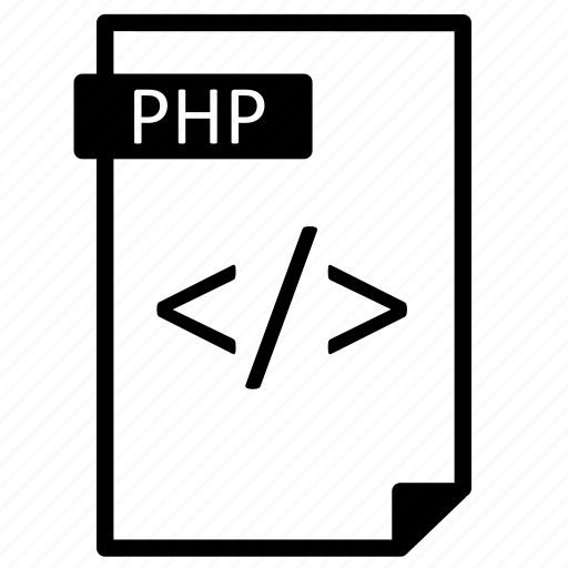 file, line, page, php, program, source icon
