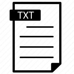 document, file, format, line, text, txt icon