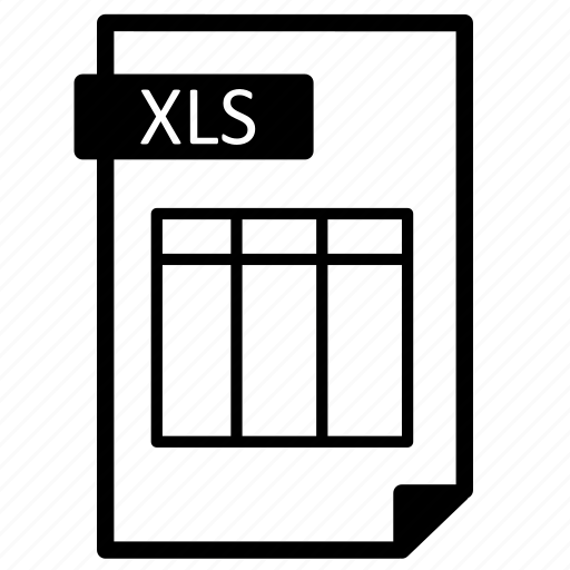 document, extension, file, format, line, paper, sheet, xls icon