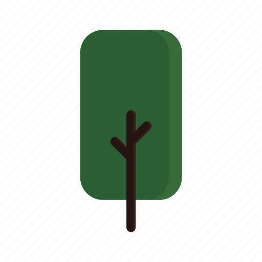 branches, green, rect, tree icon