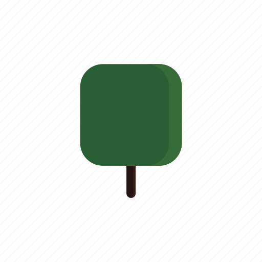 green, square, tree icon