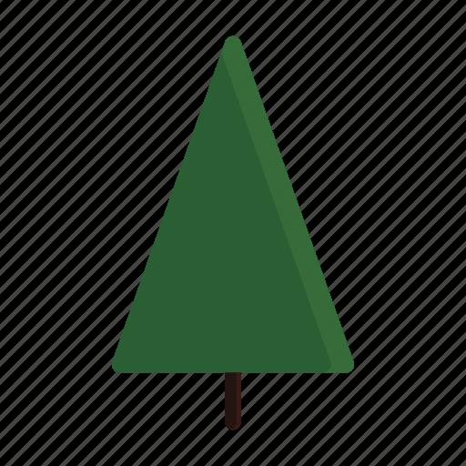 green, tree, triangle icon