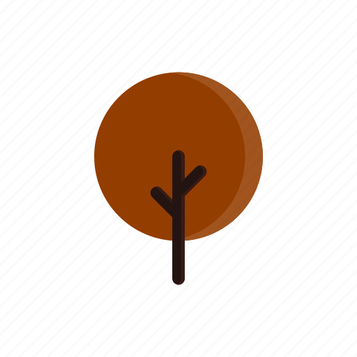 autumn, branches, circle, red, tree icon