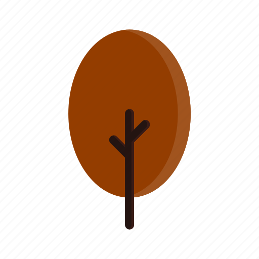 autumn, branches, oval, red, tree icon