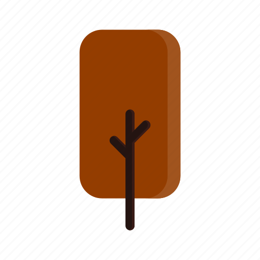 autumn, branches, rectangle, red, tree icon