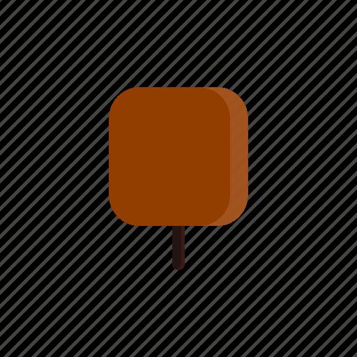 autumn, red, square, tree icon