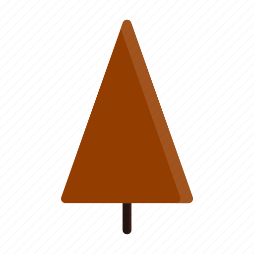 autumn, red, tree, triangle icon