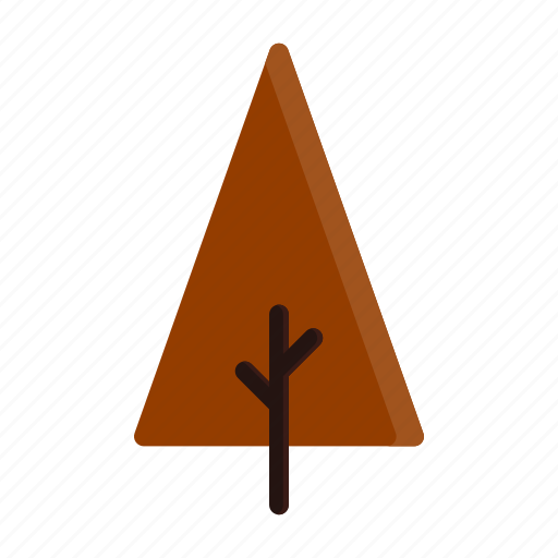 autumn, branches, red, tree, triangle icon
