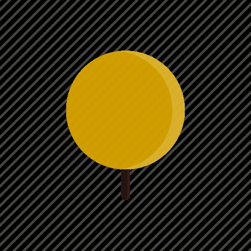 autumn, circle, tree, yellow icon