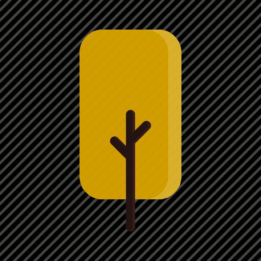autumn, branches, rect, tree, yellow icon