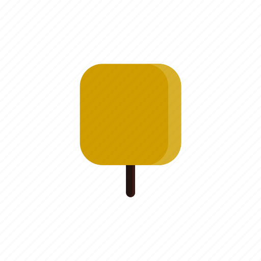 autumn, square, tree, yellow icon