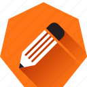 compose, draw, edit, heptagonal, pencil, write, writing icon