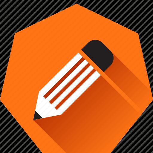 compose, draw, edit, heptagonal, pencil, write, writing icon
