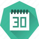 calendar, due date, heptagonal, monthly, schedule, target icon