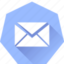 compose, heptagonal, mail icon