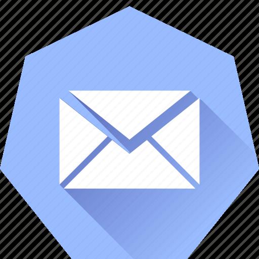 compose, heptagonal, mail icon