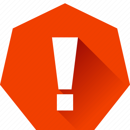 alert, aware, critical, exclaimation mark, heptagonal, notify, surprise icon