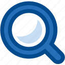 find, glass, look, magnification, magnify, magnifying, observe, search, view, zoom icon
