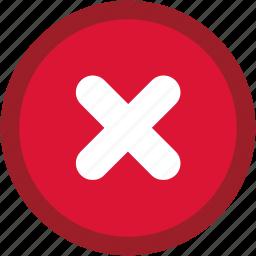 cancel, close, closed, delete, end, error, multiply, remove, stop, times, x icon