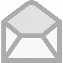 checked, email, envelope, letter, mail, message, open icon
