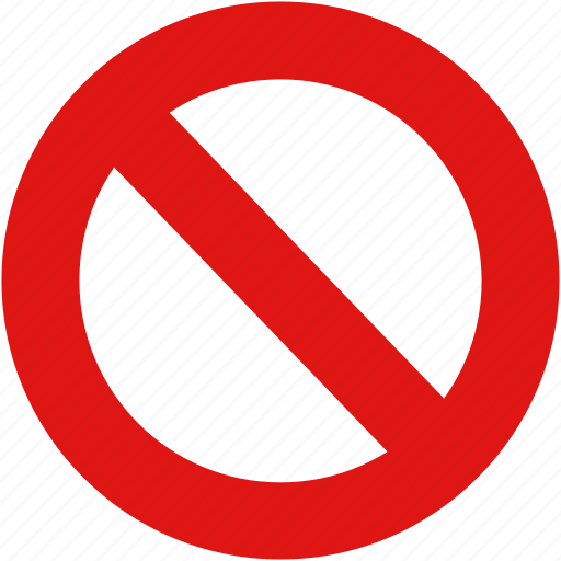 alert, ban, cancel, error, forbidden, no, restrict, warning icon