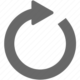 arrow, circle, circular, full circle, redo, refresh, reuse, revolution icon