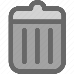 bin, can, clear, delete, garbage, recycle, recycling, remove, trash, waste icon