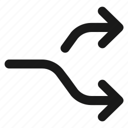 arrows, direction, forward, move, next, right, shuffle icon
