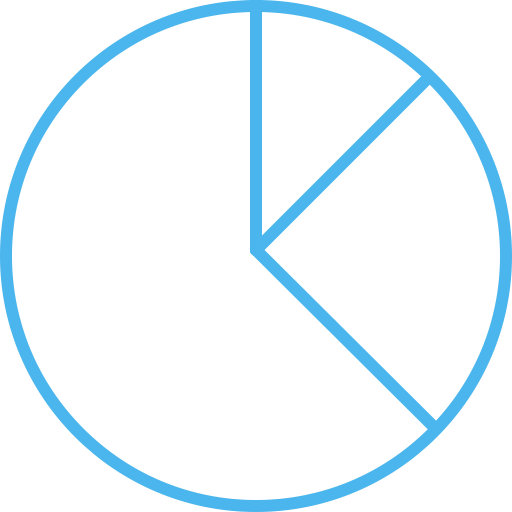 diagram, pie chart icon