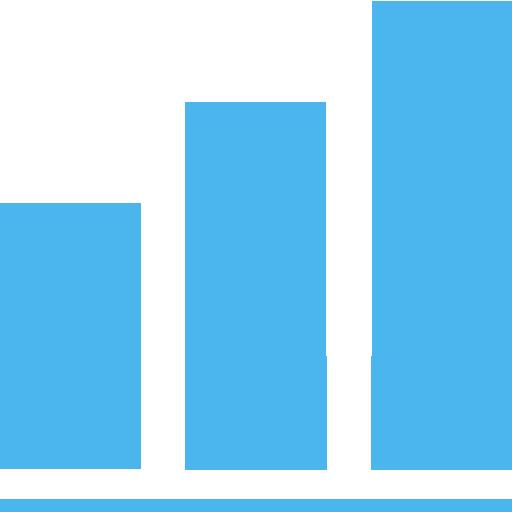 bar chart, diagram, revenue icon