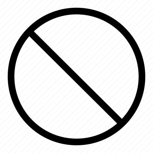 banned, blocked, forbidden, no, prohibited icon