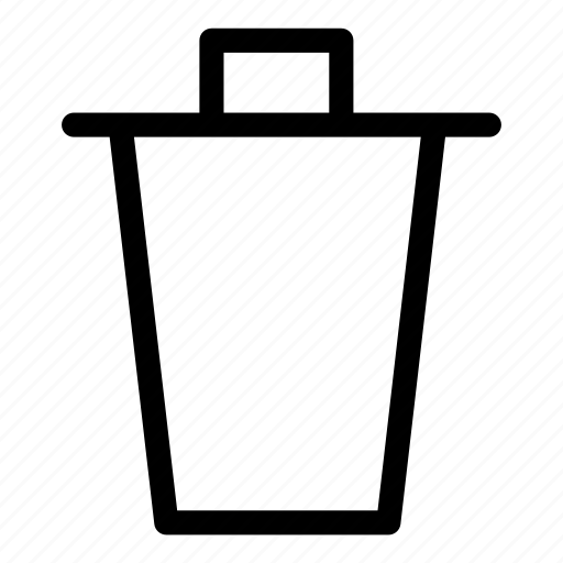 delete, recycle bin, remove, trash icon