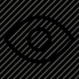 eye, see, view, visible, vision icon