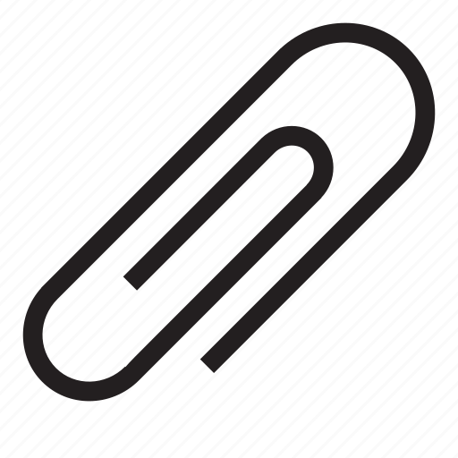 attachment, clip, file attachement, link file, paper clip icon