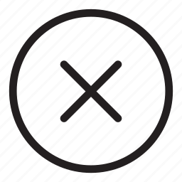 cancel, delete, remove, trash, wrong icon