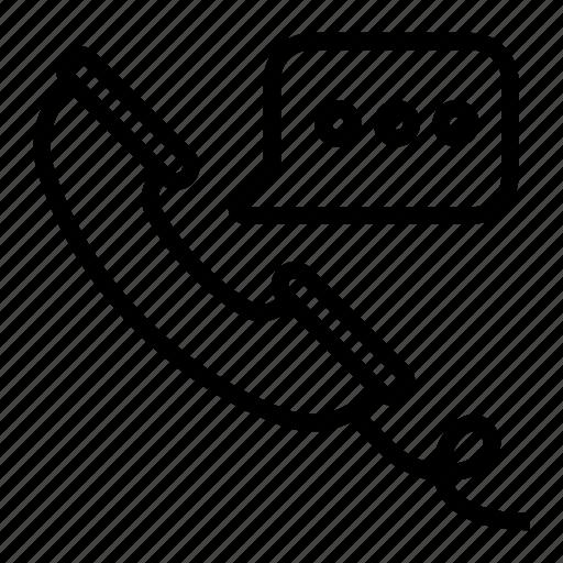 communication, message, phone call, talk, telephone icon
