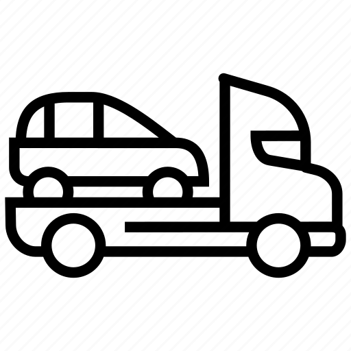 car delivery truck, delivery car, logistics, lorry, shipping car, tow truck, truck icon