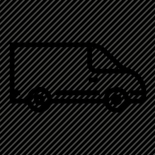 automobile, deliver truck, shipping truck, transport van, truck, van, vehicle icon