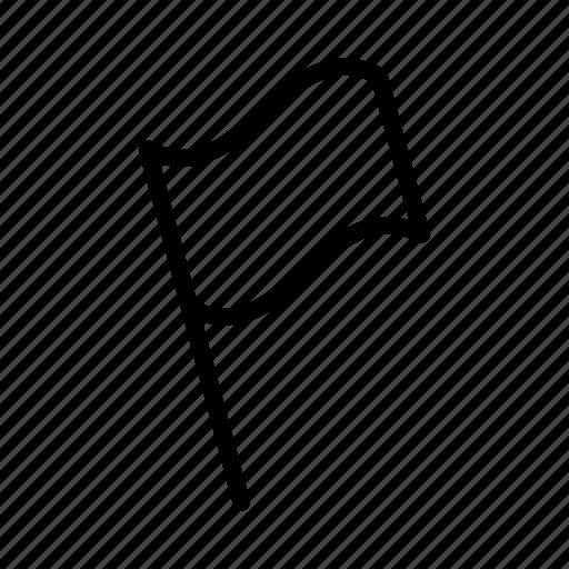 flag, gps, location, map, national flag, pin, waving flag icon