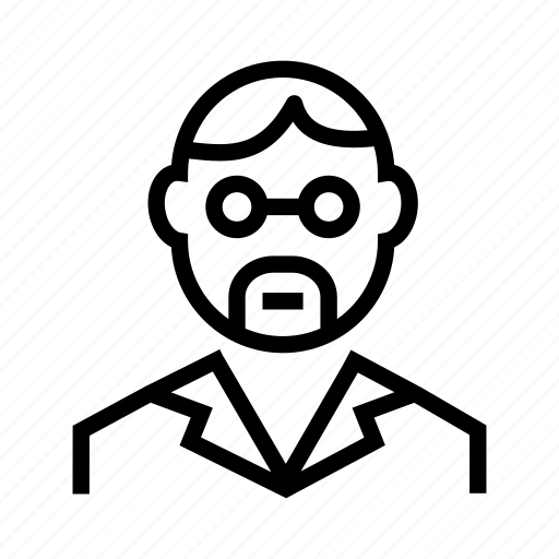 business, professional, profile, scientist, teacher, worker icon