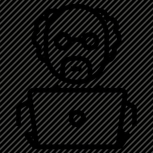 computer, professor, scientist, teacher icon