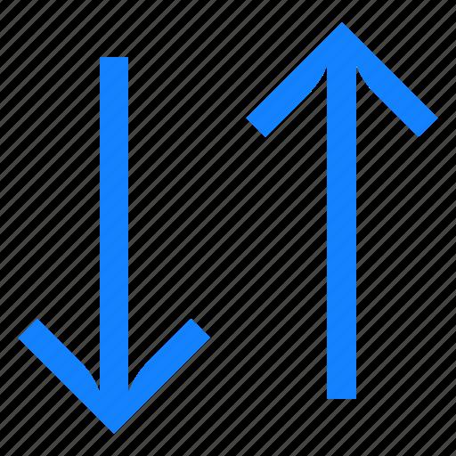 arrows, down, internet, synchronization, up icon