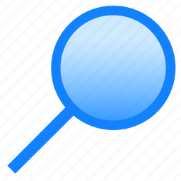glass, lens, loupe, magnifier, search, zoom icon