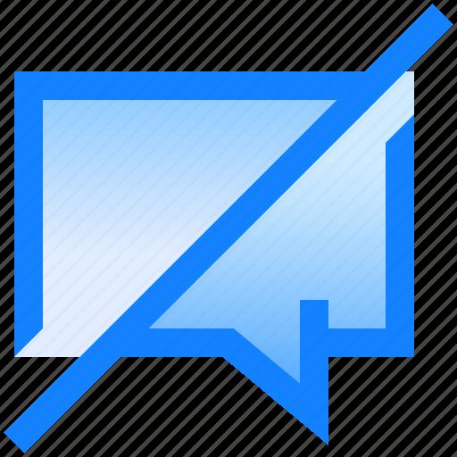 bubble, chat, conversation, disabled, message, send, text icon