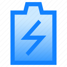battery, charge, electricity, energy, lightning, power, resource icon
