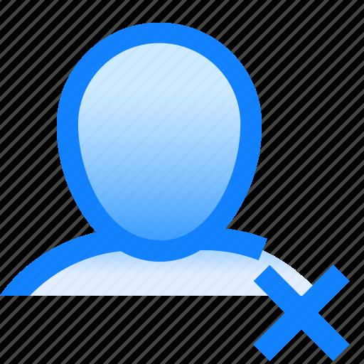 avatar, cross, delete, human, man, profile, user icon