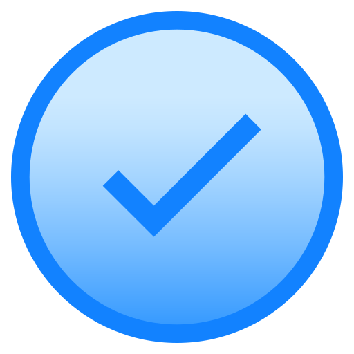 added, circle, complete, done, downloaded icon