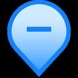 delete, geolocation, hide, mark, minus, pin, tag icon