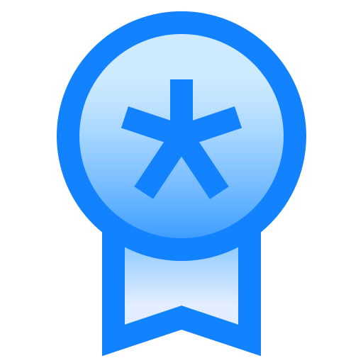 badge, favorite, medal, reward, star icon